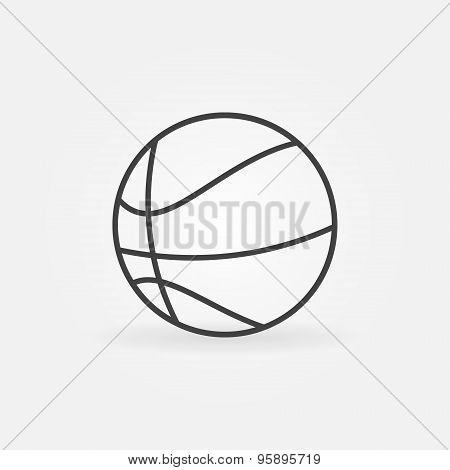 Basketball icon or logo