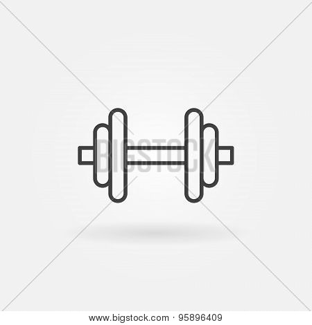 Dumbbell logo