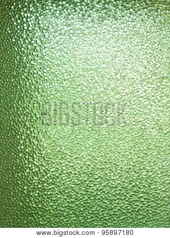 Glass Textured Background In Green