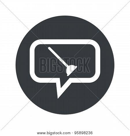 Round plunger dialog icon