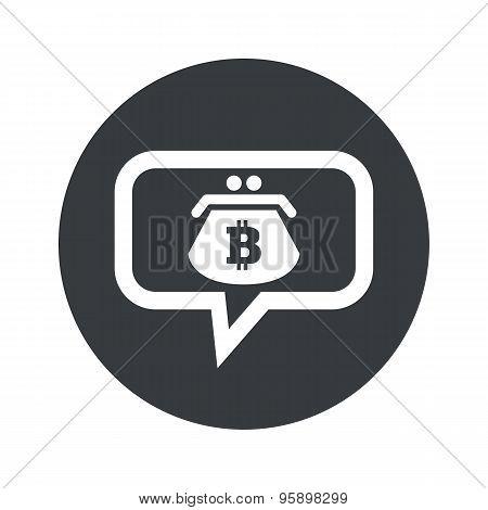 Round bitcoin purse dialog icon