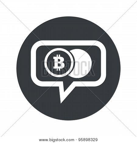 Round bitcoin coin dialog icon