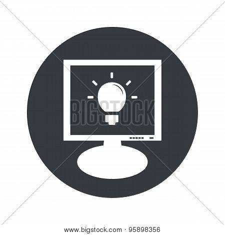 Round light bulb monitor icon