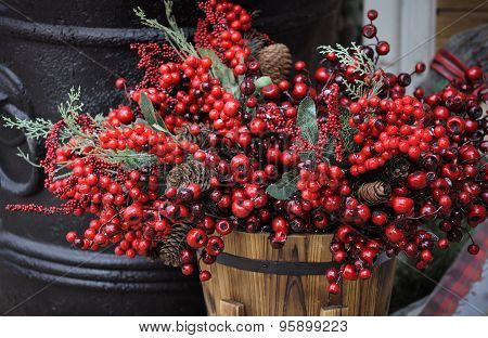 Country Style Red Berry Basket