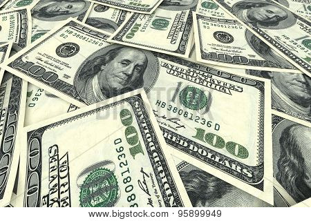 Money Background From Dollars
