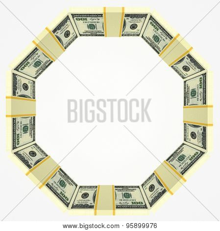 Blank Background With Money Frame