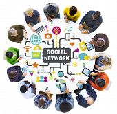 picture of socialism  - Social Media Social Networking Connection Global Concept - JPG