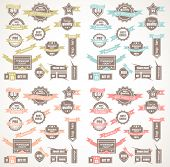 Big Collection of Quality Labels with 4 colors version. Idea to use for  Vintage designs, restaurant