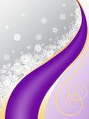 Постер, плакат: Серо фиолетовый фон с снежинки