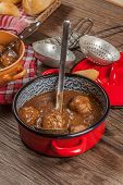 image of meatball  - Tasty beef meatballs in the sauce - JPG