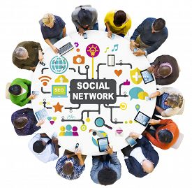 image of social system  - Social Media Social Networking Connection Global Concept - JPG