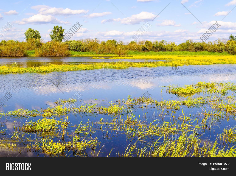 Cloudy Blue Sky Landscape Stock Photo - Image: 90358530