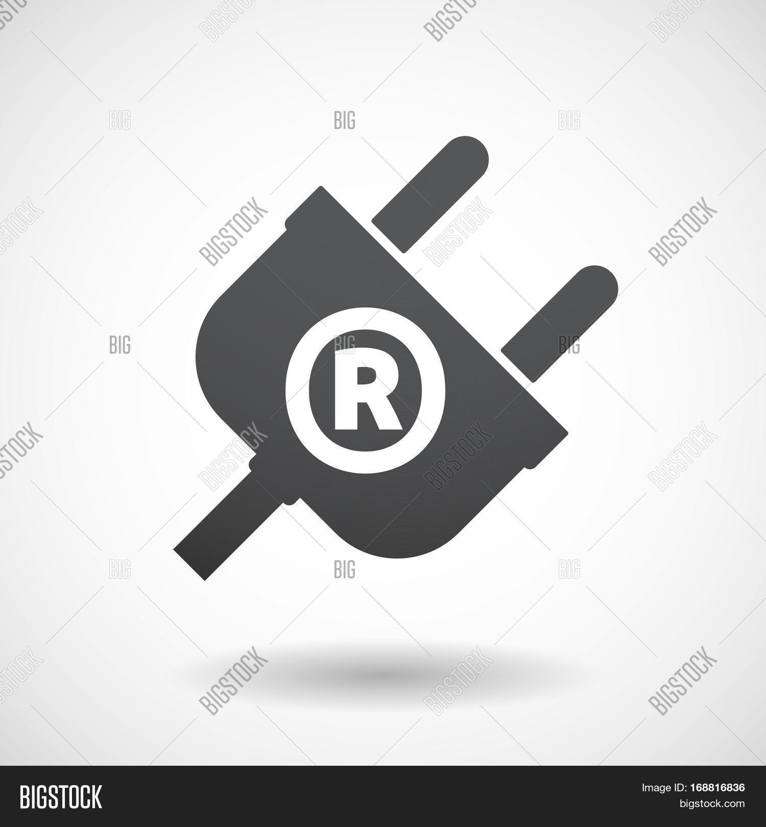 Isolated plug registered trademark vector photo bigstock isolated plug with the registered trademark symbol biocorpaavc Choice Image