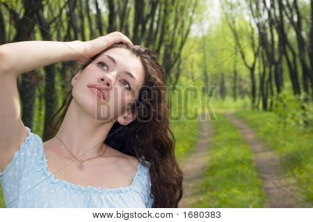Girl At The  Landscape 4