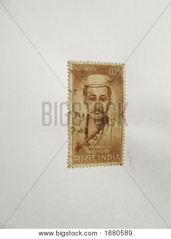 Old Postal Stamp Of India - Issued In Honor Of Vidyapati