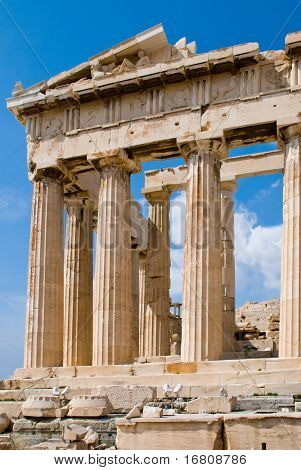 The Temple of Athena at the Acropolis, Parthenon, Athens, Greece