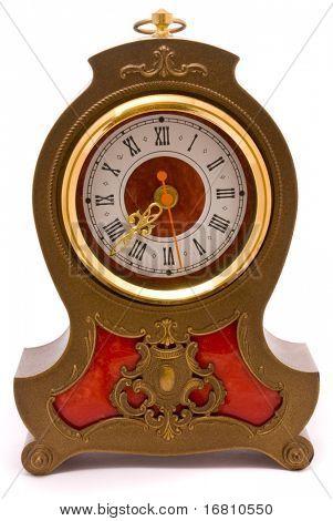 Vintage stylish clock on a white background