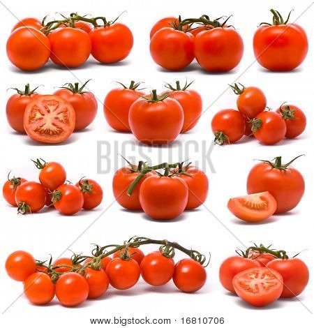 Fresh tomatoes set.