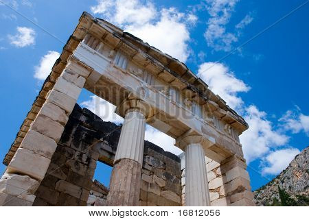 Apollo temple. Delphi. Greece