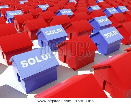 hi res rendering, red and blue with sold write