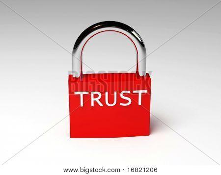 padlock of trust