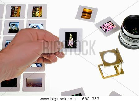 de la mano con la diapositiva