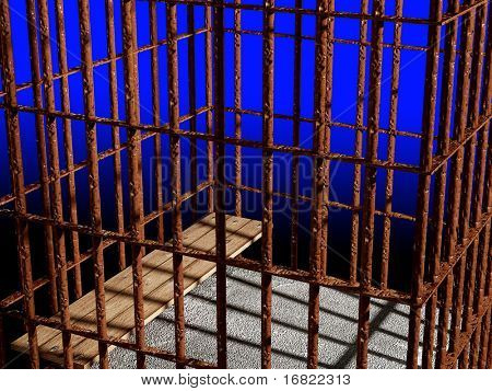 metal cage 3d, concept of jail 01 background