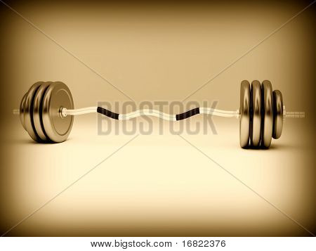 fine image 3d of classic barbell