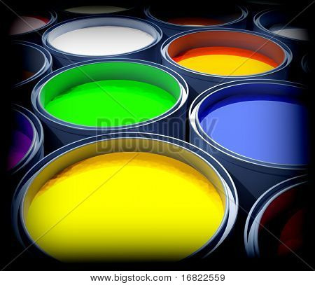 fine image 3d of color paint background