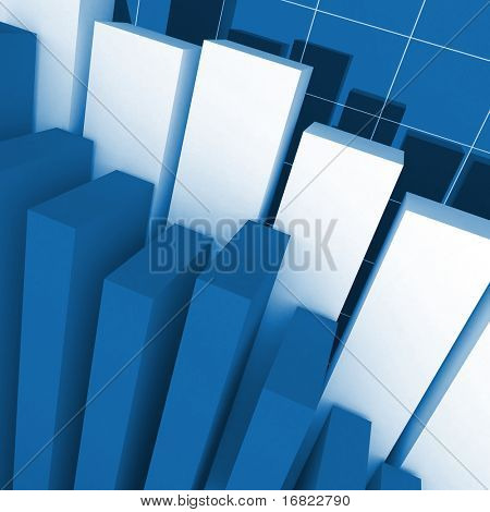 fine image 3d of financial stat background