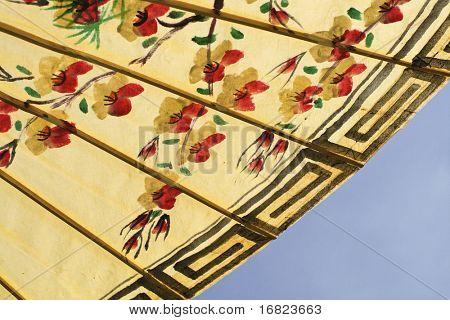 asian umbrella detail handmade decorated close up