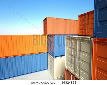 fine image of classic container 3d background