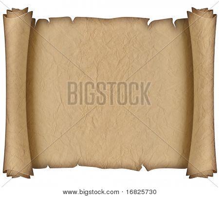 antigo manuscrito de papel