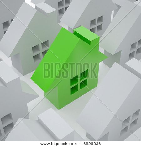 3d home One 3d green house from set