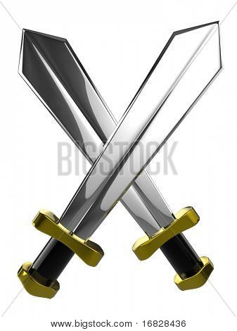 3d swords isolated