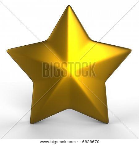 gold star - 3d render