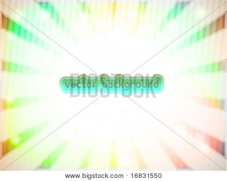 vector background with rainbow rays