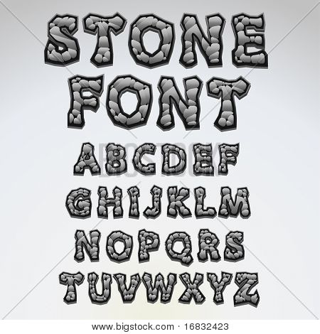 Stone alphabet - find more fonts in my portfolio