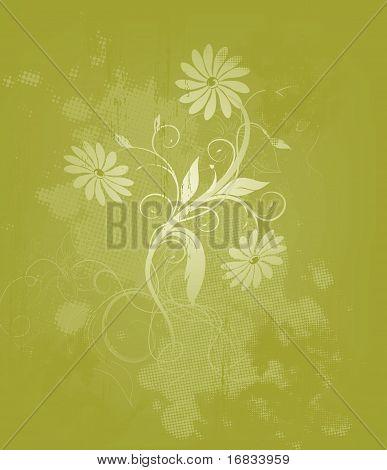 Floral Sommer-Hintergrund