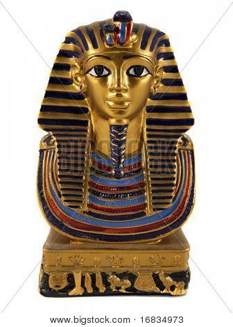 Isolated Egyptian pharaoh miniature