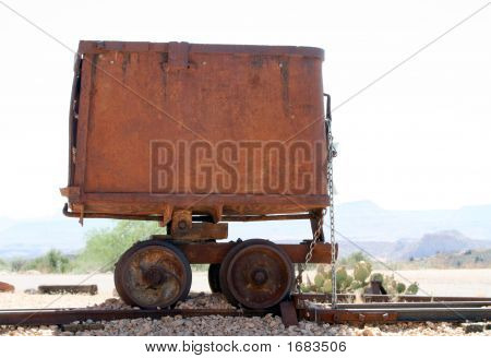 Antique Ore Mining Rail Car