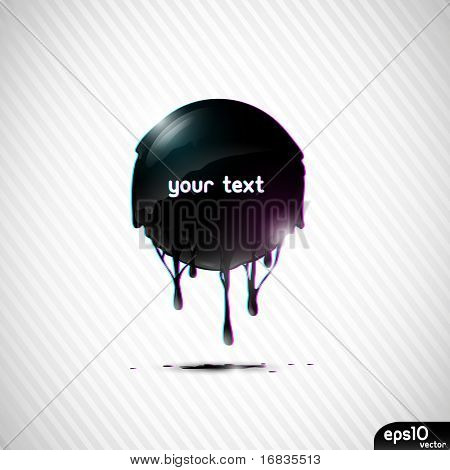 Abstract black oil speech bubble