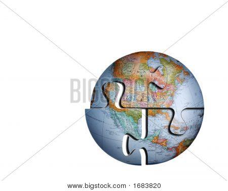 Puzzle del globo de tierra #2