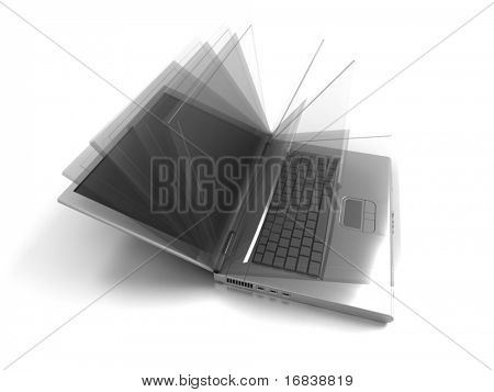 Opened Laptop