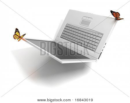 Weightless laptop