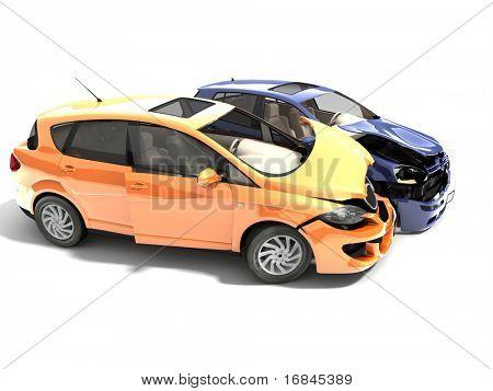 Isolierte abgestürzten Autos