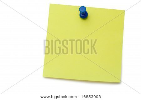 Amarillo Post-it Memo con chincheta