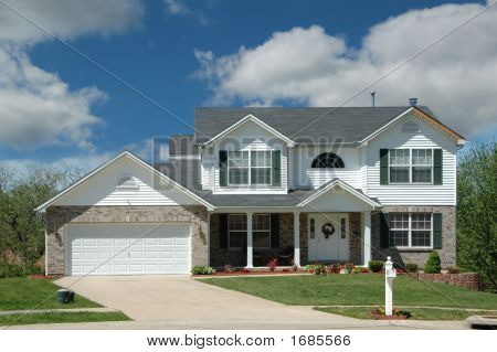 Modern Middle Class American Home