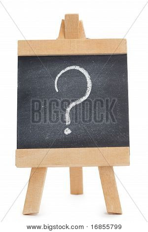 Chalkboard With A Question Mark Written On It