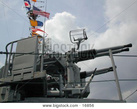 WWII Destroyer 40mm Guns
